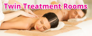 Come with a friend and try our twin treatment rooms